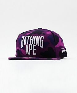 A Bathing Ape Color Camo New Era 9Fifty (Purple)