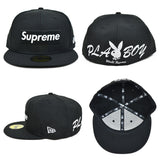 Supreme x Playboy x New Era Box Logo Fitted (Black)