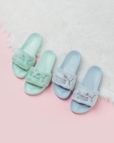 "Puma x Rihanna Fenty ""Fur"" Summer Slides (multiple colors)"