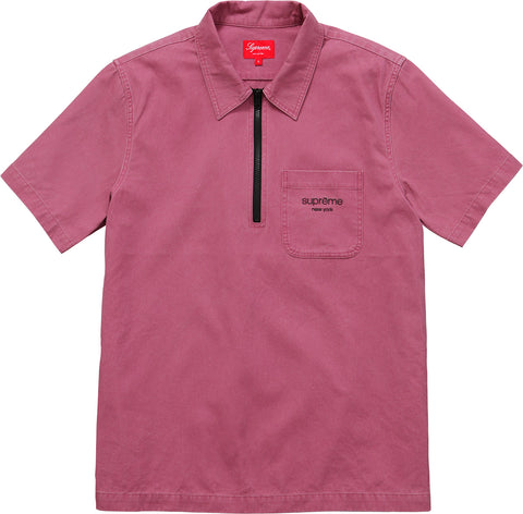 Supreme Twill Half Zip Shirt (Red)