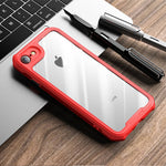 Elegant Drop-resistant PC + TPU Hybrid Phone Shell [Precise Cutout] for iPhone