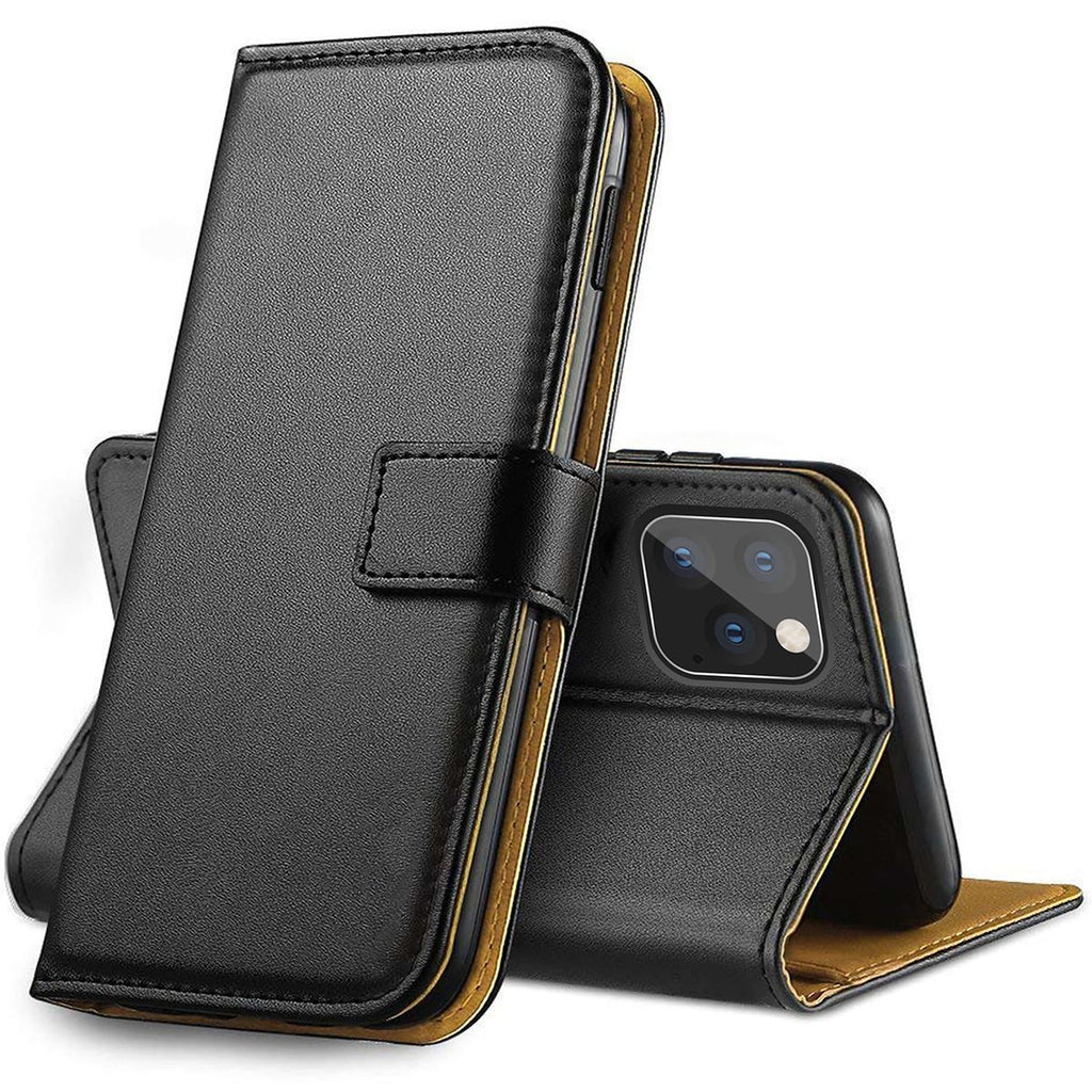 Genuine Leather Flip Wallet Case with Cash / Card Slots For Apple iPhone 7