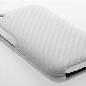 Carbon Fiber Leather Case white for iPhone 3GS 3G - iPhone Accessories - iPhone 3G 3GS Cases & Covers NZ - 3