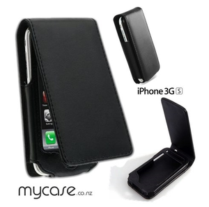 Leather Vertical Case black - iPhone 3GS - iPhone Accessories - iPhone 3G 3GS Cases & Covers NZ