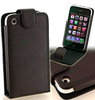 Leather Vertical Clip Case black - iPhone 3G 3GS - iPhone Accessories - iPhone 3G 3GS Cases & Covers NZ