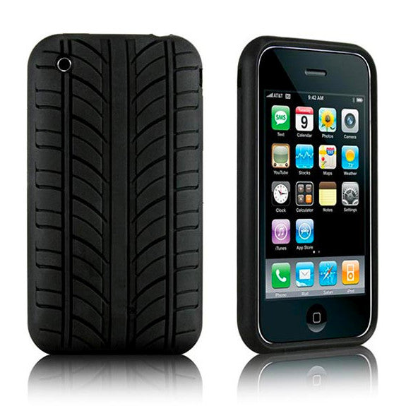 Tyre Design iPhone 3G 3GS Soft Case - Black - iPhone Accessories - iPhone 3G 3GS Cases & Covers NZ