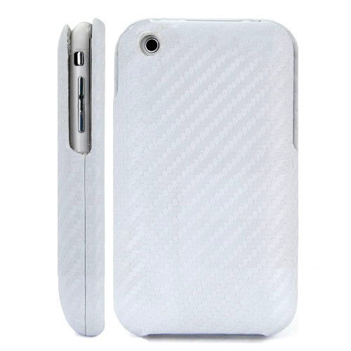 Carbon Fiber Leather Case white for iPhone 3GS 3G - iPhone Accessories - iPhone 3G 3GS Cases & Covers NZ - 2