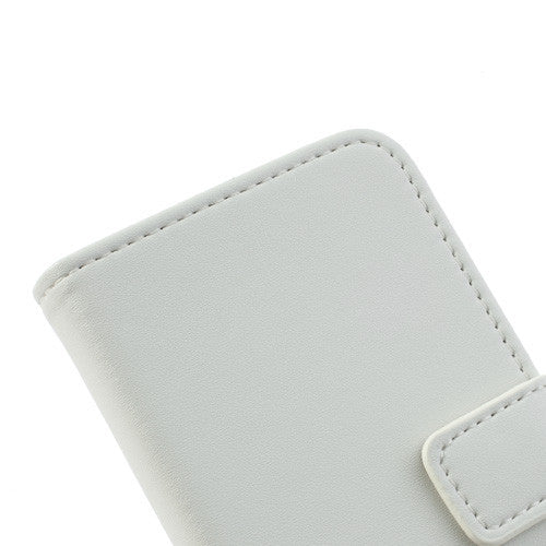 Genuine Split Leather iPhone 5C Wallet Case - White - iPhone Accessories - iPhone 5C Case | iPhone 5C Cover - 9