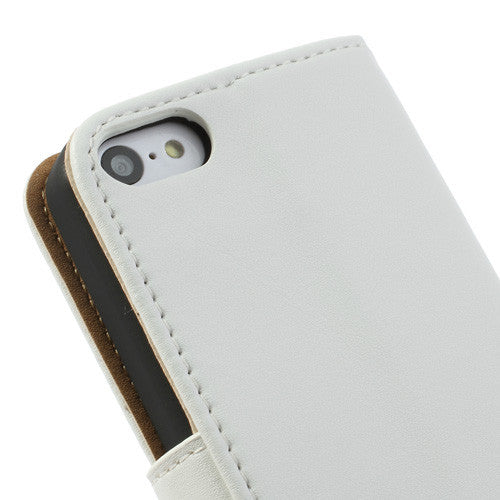 Genuine Split Leather iPhone 5C Wallet Case - White - iPhone Accessories - iPhone 5C Case | iPhone 5C Cover - 8