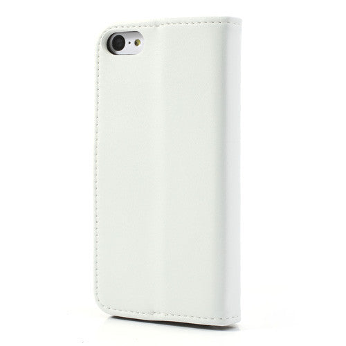 Genuine Split Leather iPhone 5C Wallet Case - White - iPhone Accessories - iPhone 5C Case | iPhone 5C Cover - 6