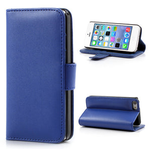 PU Leather Flip Wallet iPhone 5C Case - Blue - iPhone Accessories - iPhone 5C Case | iPhone 5C Cover - 2