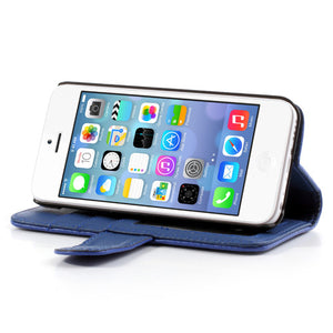 PU Leather Flip Wallet iPhone 5C Case - Blue - iPhone Accessories - iPhone 5C Case | iPhone 5C Cover - 4