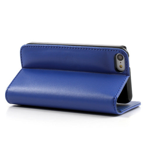 PU Leather Flip Wallet iPhone 5C Case - Blue - iPhone Accessories - iPhone 5C Case | iPhone 5C Cover - 5