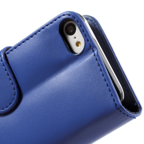 PU Leather Flip Wallet iPhone 5C Case - Blue - iPhone Accessories - iPhone 5C Case | iPhone 5C Cover - 9