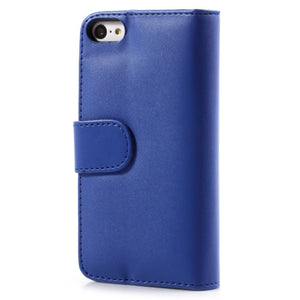 PU Leather Flip Wallet iPhone 5C Case - Blue - iPhone Accessories - iPhone 5C Case | iPhone 5C Cover - 3