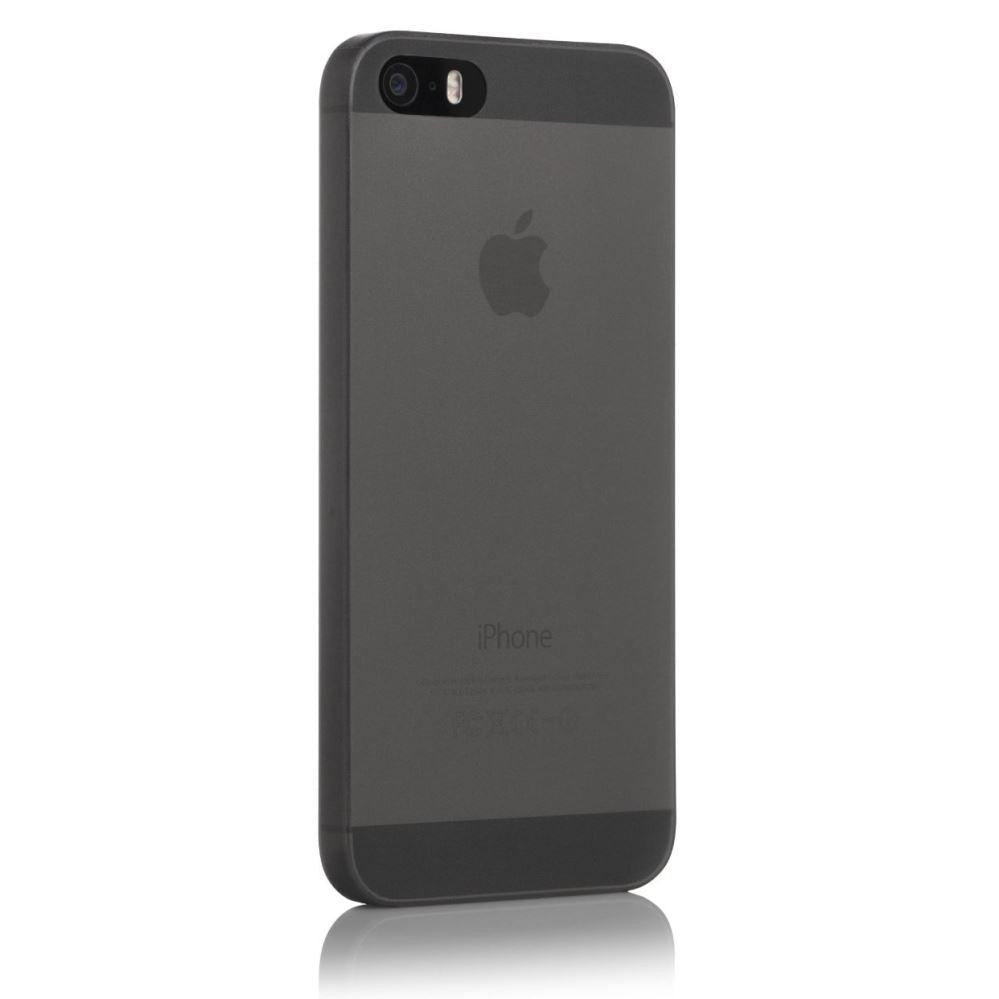 huge discount 673e4 1caec TPU Polycarbonate 0.3mm Thin iPhone SE / 5 / 5S Case - Transparet Black