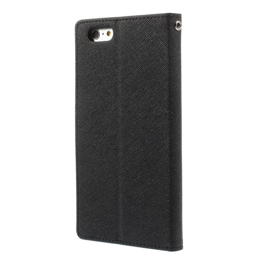 innovative design b5fe3 a95c3 Mercury PU Leather Wallet case iPhone 6/6S Plus Black