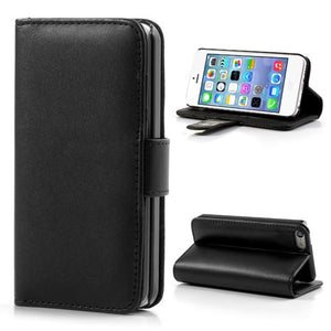 PU Leather Flip Wallet iPhone 5C Case - Black - iPhone Accessories - iPhone 5C Case | iPhone 5C Cover - 1