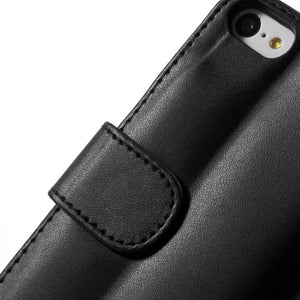 PU Leather Flip Wallet iPhone 5C Case - Black - iPhone Accessories - iPhone 5C Case | iPhone 5C Cover - 8