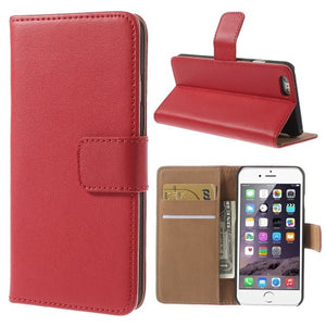 iPhone 6 6S Leather Wallet Stand Case - Red - iPhone Accessories - iPhone 6 Case | iPhone 6S Case - 1