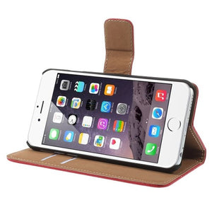 iPhone 6 6S Leather Wallet Stand Case - Red - iPhone Accessories - iPhone 6 Case | iPhone 6S Case - 4