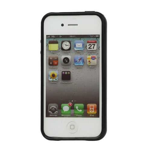 Lustrous TPU Case for iPhone 4 4S - Black - iPhone Accessories - iPhone 4 Cases | iPhone 4S Case - 2