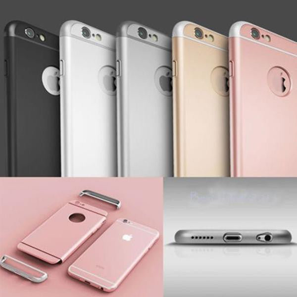 super popular 19885 7199d 360 Protection Ultra-thin Metallic Shockproof Armour Case Cover for iPhone  6 7 & iPhone 6 7 Plus
