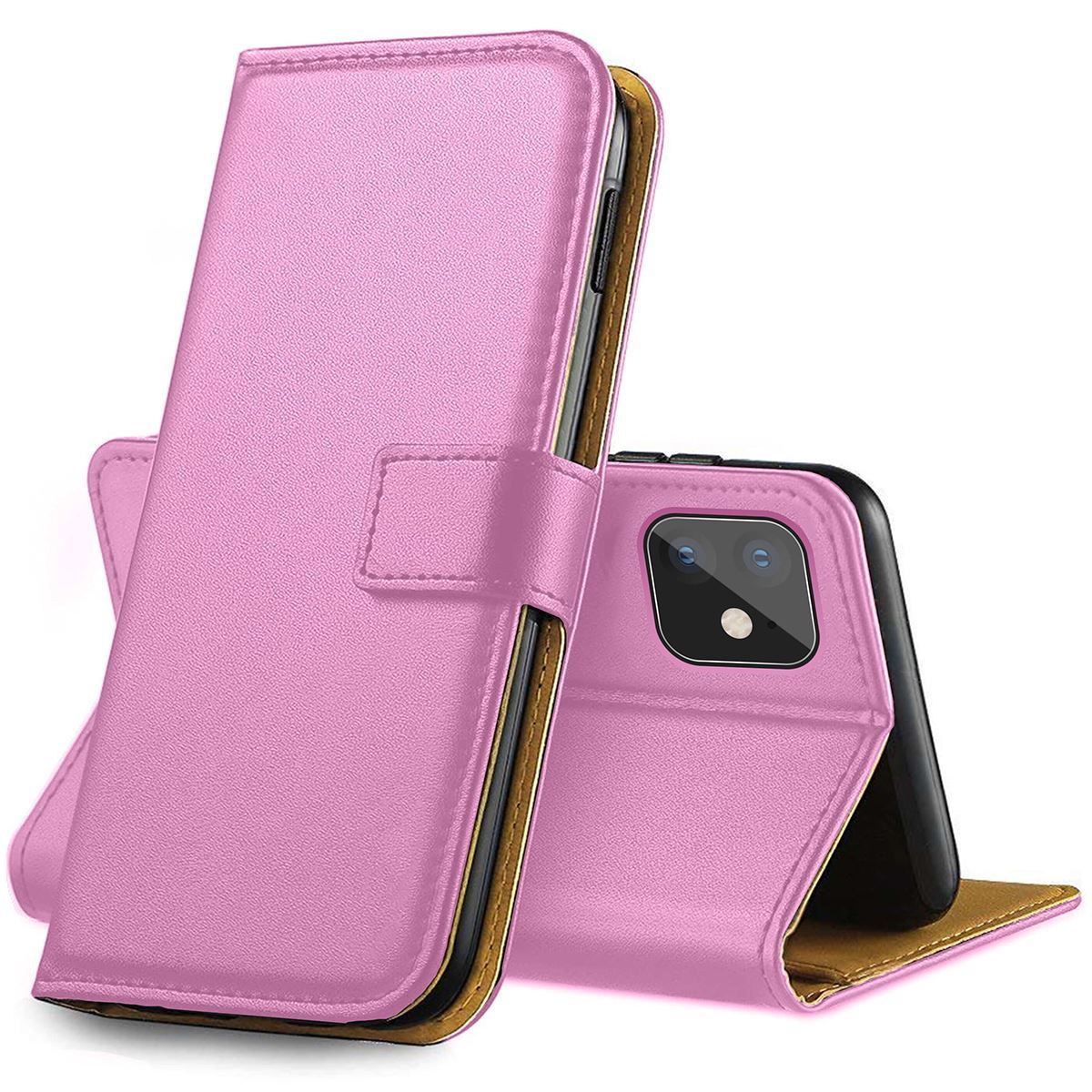 Genuine Leather Flip Wallet Case with Cash / Card Slots For Apple iPhone 5 / SE (2016)