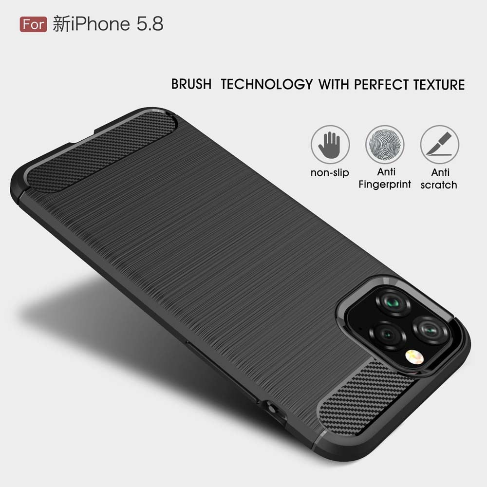 Carbon Fiber Cover for iPhone 11  series Back Cover Case