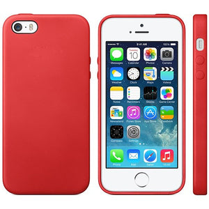 TPU Leather Trim iPhone SE / 5 / 5S Case Cover - Red - iPhone Accessories - iPhone SE Case | iPhone 5 5S Cases - 1