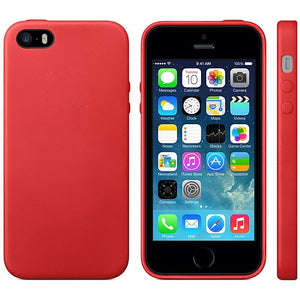 TPU Leather Trim iPhone SE / 5 / 5S Case Cover - Red - iPhone Accessories - iPhone SE Case | iPhone 5 5S Cases - 2