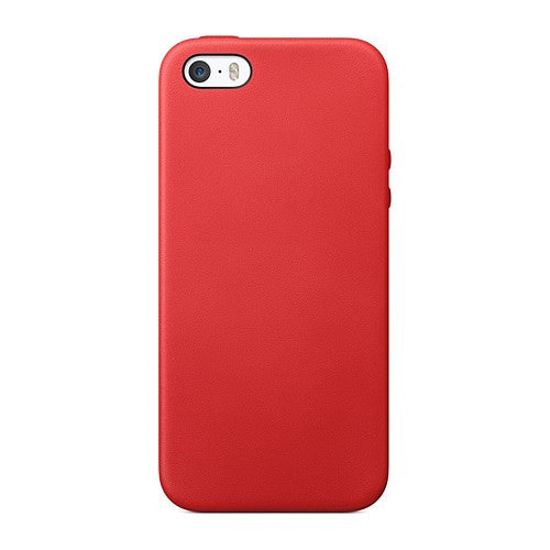 TPU Leather Trim iPhone SE / 5 / 5S Case Cover - Red - iPhone Accessories - iPhone SE Case | iPhone 5 5S Cases - 3
