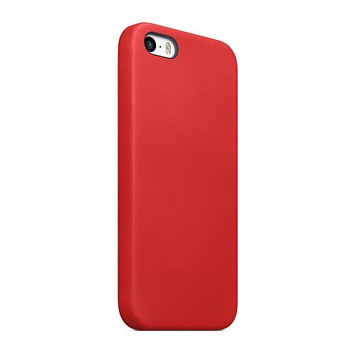 TPU Leather Trim iPhone SE / 5 / 5S Case Cover - Red - iPhone Accessories - iPhone SE Case | iPhone 5 5S Cases - 4