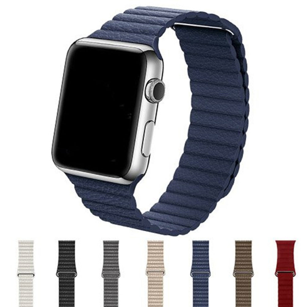 Apple Watch Quilted Venezia Leather & Adjustable Magnetic Closure Loop