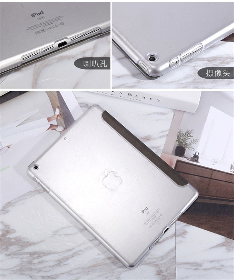 Lovely Slim Case For iPad Hard Back Pu Leather Case