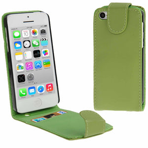 Soft PU Leather iPhone 5C Flip Case Cover - Green - iPhone Accessories - iPhone 5C Case | iPhone 5C Cover - 1