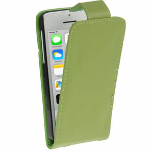 Soft PU Leather iPhone 5C Flip Case Cover - Green - iPhone Accessories - iPhone 5C Case | iPhone 5C Cover - 2
