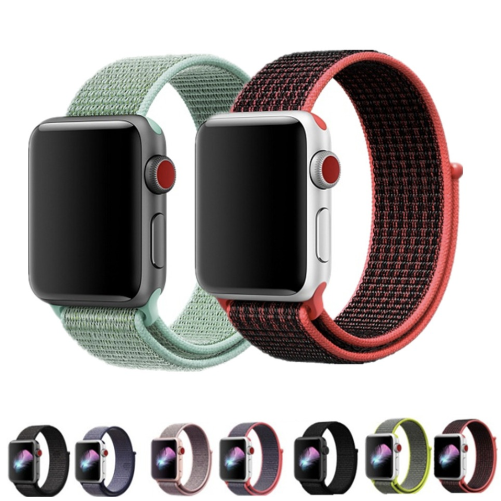 Lightweight Breathable Nylon Sport Loop Band for Apple Watch 42MM 38MM