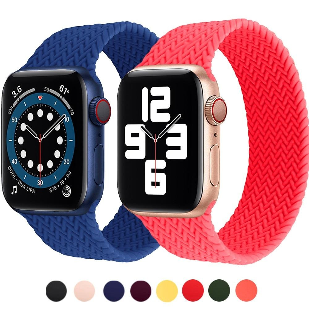 Apple watch belt bracelet Braided Solo Loop Silicone Strap
