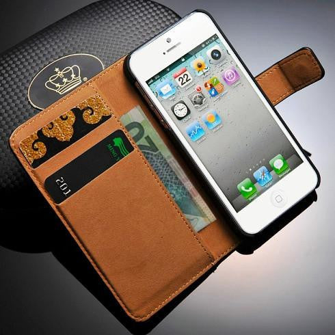 PU Leather Wallet Case for iPhone SE / 5 / 5S