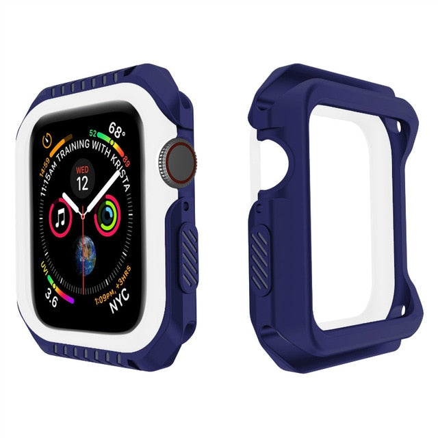 ProBefit Silicone+PC Hard Armor Case for Apple Watch Frame Full Protective Bumper