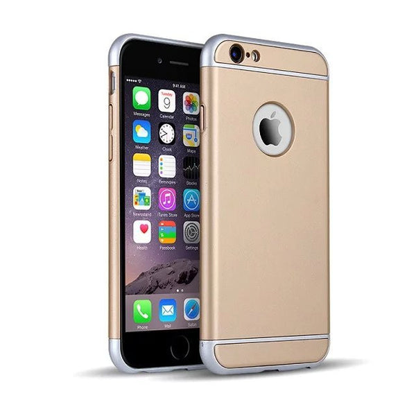 b98dae951e6ae4 360 Protection Ultra-thin Metallic Shockproof Armour Case Cover for iP -  MYCASE