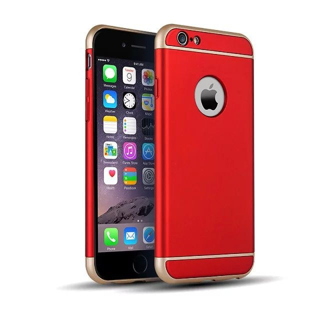 360 Protection Ultra Thin Metallic Shockproof Armour Case Cover For IPhone 6 6S Plus