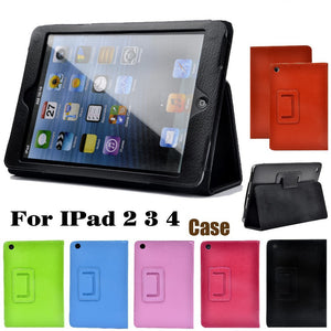 Litchi protective PU leather case for iPad 2/3/4 with sleep wake up function - iPhone Accessories - iPad Cases & Covers - 15