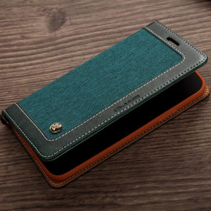 Luxury Slim PU Leather Flip Wallet Case for iPhone