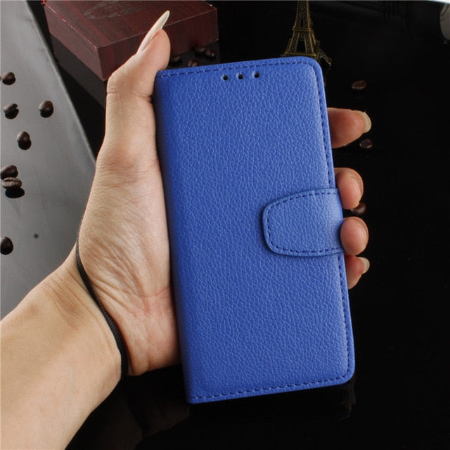 Litchi Pattern PU Leather flip wallet iPhone case