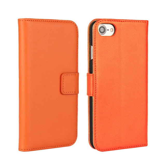 PU Leather Flip Wallet Apple iPhone Stand Case Cover