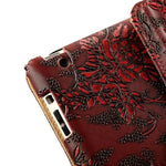 "Grapevine pattern PU Leather case for Apple iPad 9.7"" (2017/2018) Stand Cover"