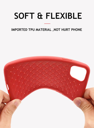 Breathable Mesh Case For iPhone TPU Weaving BV Grid Cover