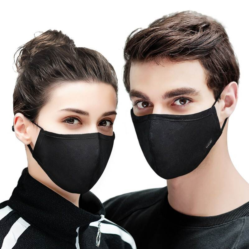Cotton Face Mask Anti PM2.5 dust Mask with 2pcs Activated Carbon Filter Mask